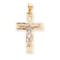 2 tone crucifix C2014