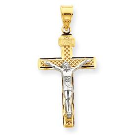 2 tone crucifix C4348