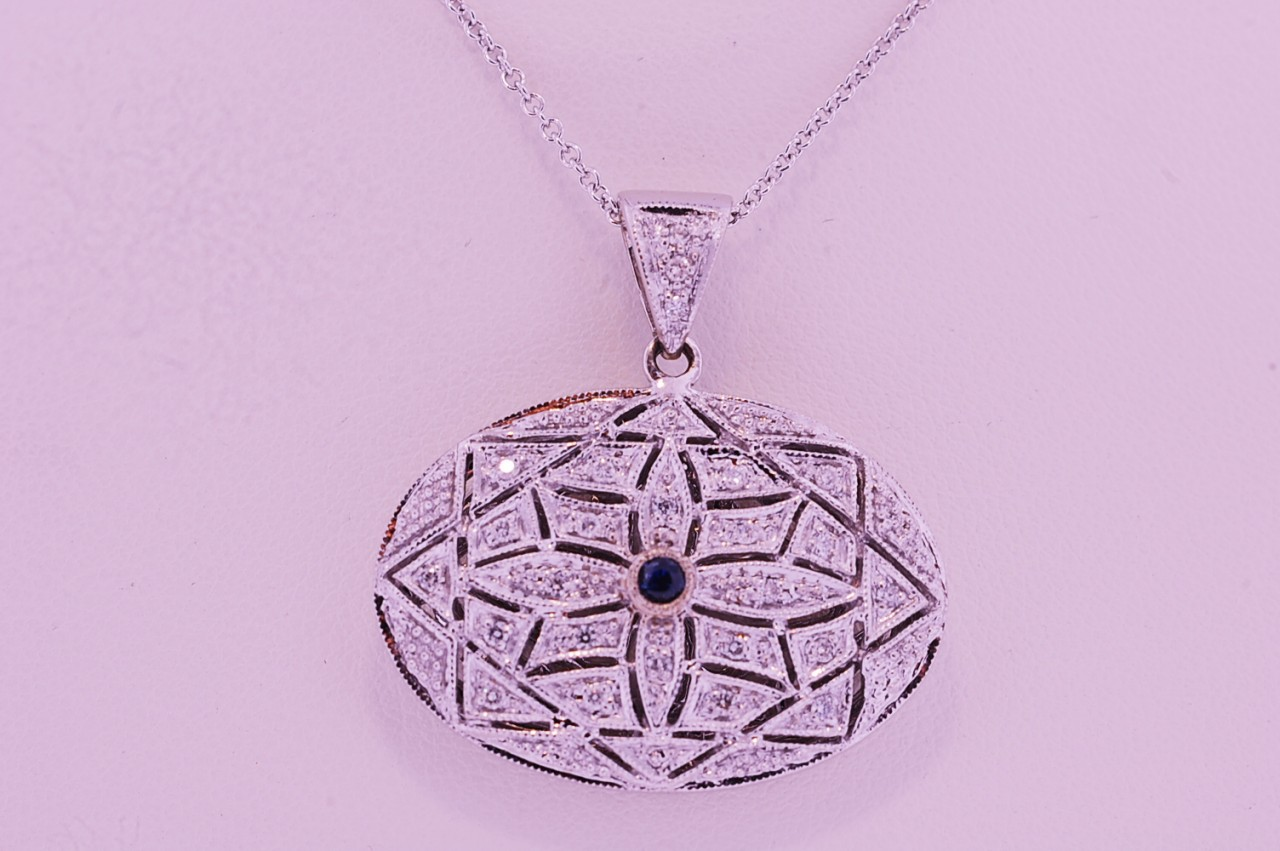 A diamond locket