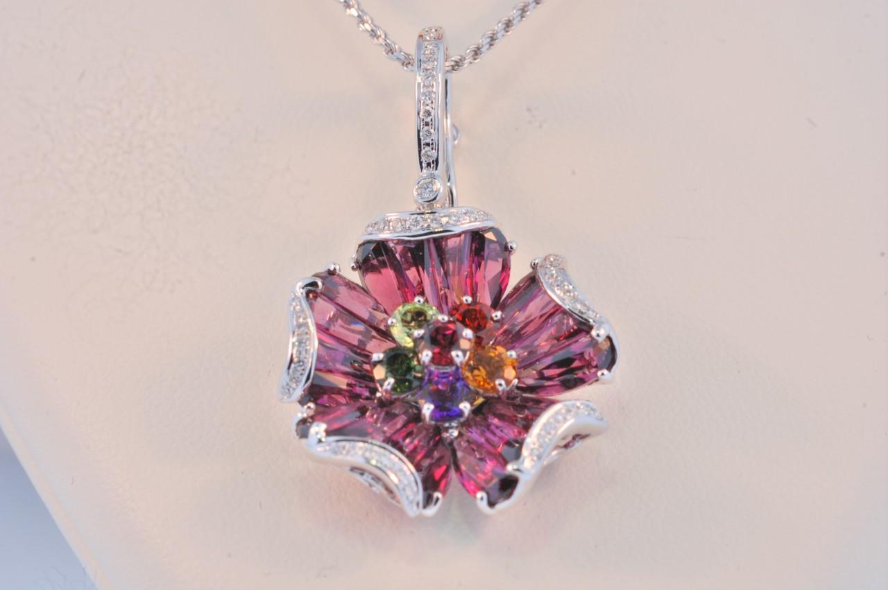 Bellari white gold multi gemstone 1103 RHM