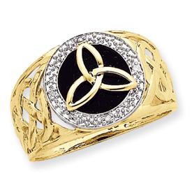 K3857 onyx and diamond ring