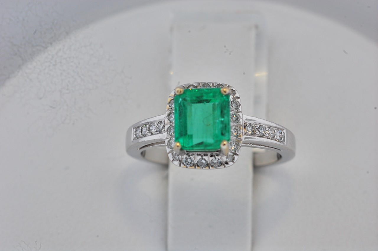 a emerald ring