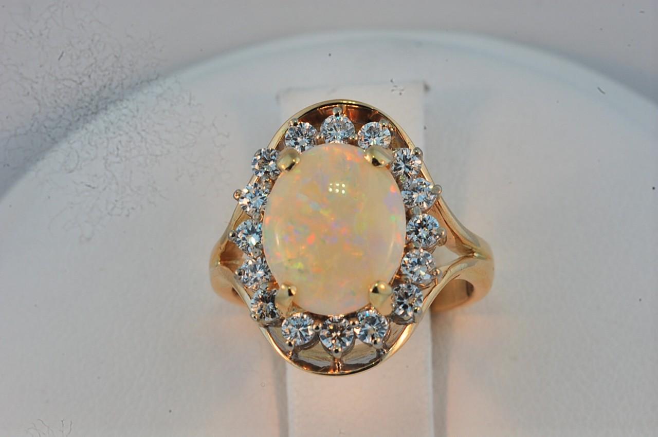 a white fire opal