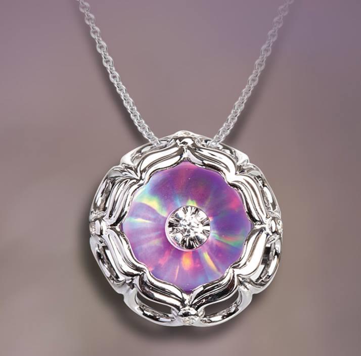 vine with lavendar opal pendant